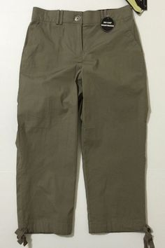 """Counterparts Women's Taupe Brown Capris, Cropped Pants Size 6 Inseam 23"""" NWT #Counterparts #CaprisCropped"""