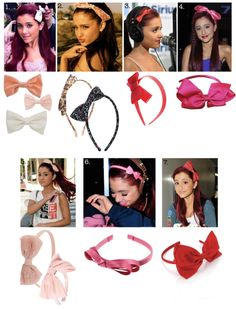 I like the bows in the pictures labeled '1,2,and 5' but mostly bows without headbands in picture '1':) Forever 21 sells a variety of bows like these.