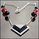 art deco jacob bengel galalith necklace