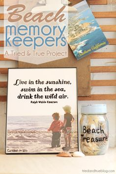 Two ways to capture all the fun memories you made at the beach!...Love the quote for beach photos