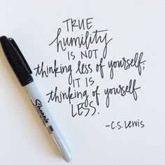 5x7 CS Lewis Quote Humility by KatieSterbenz on Etsy