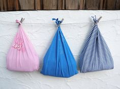 Reusable Produce Bag Compact Fold Up Tote Blue by WildPlumTree, $8.00