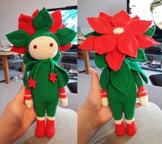 Christmas Star Kris doll made by Angelique P - crochet pattern by Zabbez
