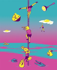 Глаза залиты кислотой  http://tutdesign.ru/cats/illustration/18060-glaza-zality-kislotoj.html  Как рисует участник группы NRKTK, или электропрохладительные иллюстрации Андрея «Флаконкишочки». #russiandesign #russianillustration