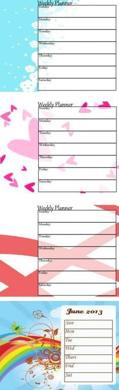 Printable week at a glance organisation Pinterest Calendar - free weekly calendar