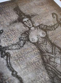 Serpent Goddess PencilBlack Digital print Premium Satin | Etsy Original Art, Original Paintings, Minoan, Ancient Greece, Crete, Snakes, Paper Size, Occult, Archaeology