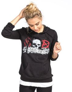 METAL MULISHA Sons of Anarchy SAMCRO Womens Hoodie 244807100 | Sweatshirts & Hoodies