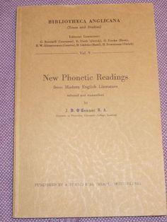 NEW PHONETIC READINGS, Bibliotheca Anglicana, absolute Rarität!, Francke 1948