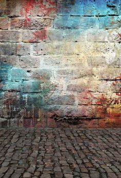 Kate Colorful Brick Graffiti Wall Retro Background For Studio – Best of WallPaper – wallpaper hd Blur Image Background, Blur Background Photography, Studio Background Images, Background Images For Editing, Light Background Images, Retro Background, Background Images Wallpapers, Picsart Background, Background Pictures