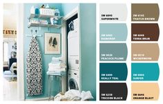 """Chip It! by Sherwin-Williams- """"really teal 6489"""".  Liking Raindrop for doors and frames by laundry in garage"""
