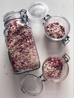 Overnight Oats with raspberries, almonds and cocoa - Exercise Oats med hallon, mandel och kakao – Träning overnight oats - Raw Food Recipes, Cookie Recipes, Healthy Recipes, Overnight Oats, Breakfast Snacks, Breakfast Recipes, Homemade Sweets, Breakfast At Tiffanys, No Bake Desserts