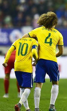 Neymar & David Luiz . Copa America Chile 14.6.15