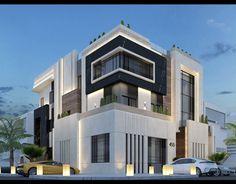 Modern Villa Design, Modern Exterior House Designs, Architecture Design, Modern Architecture House, Southern House Plans, Modern House Facades, Modern House Plans, Bungalow House Design, House Front Design