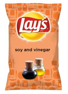 Wouldn't soy and vinegar be yummy as a chip? Lay's Do Us A Flavor is back, and the search is on for the yummiest chip idea. Create one using your favorite flavors from around the country and you could win $1 million! https://www.dousaflavor.com See Rules.