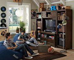 Teen hangout room teenage hangout room teenage hangout room ideas entertainment wall and bean bags for Teen Lounge Rooms, Teen Hangout Room, Design Room, Teen Furniture, Outdoor Furniture, Entertainment Wall, Teen Decor, Blue Rooms, Game Room