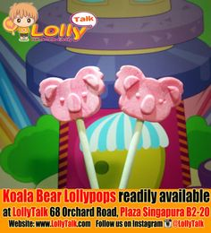 Koala Bear Lollipops by LollyTalk! Adorable and delicious koala bear!