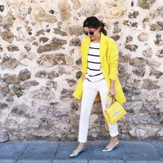 Yellow & white for saturday  (tap dor credits) #lovelypepa #style by lovelypepa