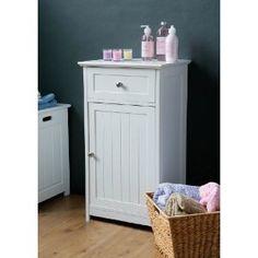 STORAGE CUPBOARD WHITE W/TOP DRAWER FLOOR STANDING by Premier Housewares /. Bathroom Floor CabinetsBathroom ...  sc 1 st  Pinterest & 9 best bathroom cabinets images on Pinterest | Bathroom cabinets ...