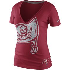 Nike Tri Reverse Logo NFL Tampa Bay Buccaneers Women's T-Shirt - Gym Red, L ($32) found on Polyvore