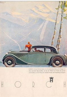 Horch 830 Advertisement - Alpenpanorama: Graphic by Bernd Reuters source: carstyling.ru