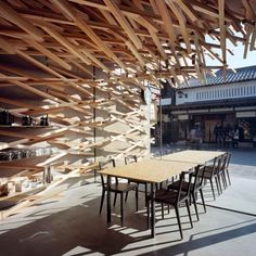 Starbucks Coffee at Dazaifu Tenman-gū by Kengo Kuma and Associates