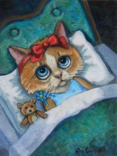 """Insomnia"" - Original Fine Art for Sale - © Joy Campbell"