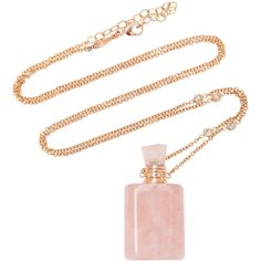 Jacquie Aiche Medium Rectangle Rose Quartz Potion Bottle Necklace ($3,815) ❤ liked on Polyvore featuring jewelry, necklaces, pink, 14k jewelry, jacquie aiche jewelry, pink jewelry, rose quartz jewelry and rectangular necklace