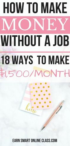 If you are wondering how you can make money online without a job or any expertise, then you are at the right place. Here are 18 awesome ways that you can use to make money online without a job. No special skills required. How to Make Money Online Earn Money Online, Make Money Blogging, Online Jobs, Money Saving Tips, Money Tips, Online Income, Online Careers, Online College, Online Earning