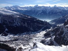 Leukerbad view from Gemmi