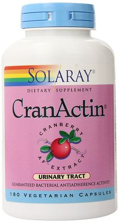 Solaray Cranactin Cranberry AF Extract Capsules, 400 mg, 180 Count >>> Tried it! Love it! Click the image. : Healthy Herbal Supplements
