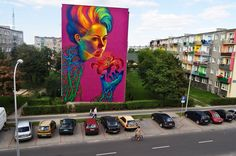 Natalia Rakis a polish artist. Here some of her amazing huge and colorful murals.