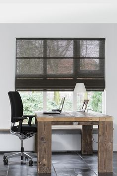 JASNO folds are different from any other roman blind you will have seen. Bay Window Treatments, Window Coverings, Roman Blinds, Curtains With Blinds, Draperies, Guest Room Office, Home Office, Custom Drapes, Store Windows
