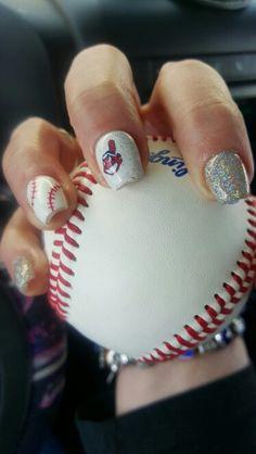 Cleveland Indians Nails by Rachel Trolio, Studio Sparkle 224