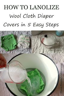 How to Lanolize Wool Cloth Diaper Covers in 5 Easy Steps