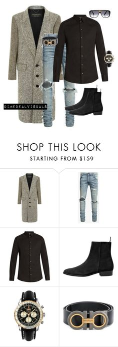 """""""MenFall"""" by dimedeal ❤ liked on Polyvore featuring Burberry, Dolce&Gabbana, MANGO MAN, Breitling, Salvatore Ferragamo, Louis Vuitton, men's fashion and menswear"""