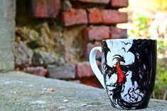 RĘCZNIE MALOWANY KUBEK - SMOK Mugs, Tableware, Art, Art Background, Dinnerware, Tumblers, Tablewares, Kunst, Mug