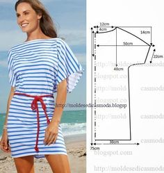 Lots of easy sewing patterns for tops Fashion Sewing, Diy Fashion, Ideias Fashion, Diy Clothing, Sewing Clothes, Dress Sewing Patterns, Clothing Patterns, Cropped Plus Size, Costura Fashion