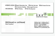 4 Green Computer Business Cards Templates