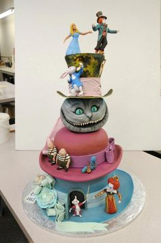 nightmare before christmas Alice In Wonderland creative design cakes To good to eat