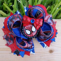 Spiderman Boutique Hair Bow by MirianCarrion on Etsy, $8.99