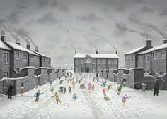 "Leigh Lambert - Snow much Fun - LOW STOCK Limited Edition Giclee on Paper cms (inc vat) New Limited Edition ""Snow much Fun"". Edition of just 75 on paper Snow Much Fun, Contemporary Artwork, Contemporary Artists, Leigh Lambert, Art Uk, Naive Art, Art Gallery, Street View, Art Prints"