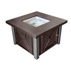AZ Patio Heaters 38 in. Decorative Steel Firepit in Bronze/Stainless Steel GSF-DGHSS at The Home Depot - Mobile