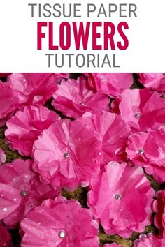 Tissue paper flowers are the perfect addition to cards, scrapbook layouts, or any craft project. Click here for the step-by-step tutorial! 🌸 #thecraftyblogstalker #paperflowers #tissuepaperflowers #diyflowers Paper Rosettes, Tissue Paper Flowers, Handmade Flowers, Diy Flowers, Flower Diy, Paper Gifts, Diy Paper, Paper Crafting, Craft Tutorials