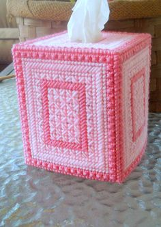 RESERVED LISTING Tissue Box Cover by TissueMart on Etsy