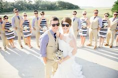 Fun shot to do with your bridal party, especially if you're providing sunglasses for your wedding guests!