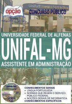 Concurso UNIFAL MG 2016  ASSISTENTE EM ADMINISTRAÇÃO