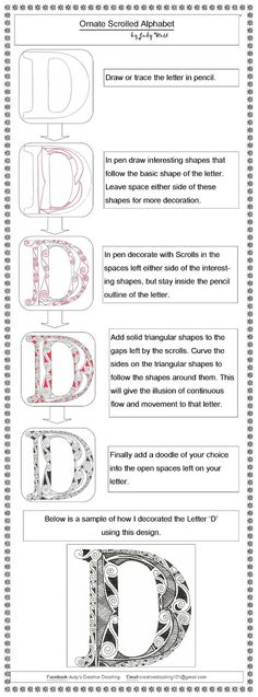 Creative Doodling with Judy West: Ornate Scrolled Alphabet Distructions