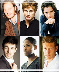 Actors of the knights of the round table; Rupert Young (Sir Leon), Bradley James (Prince Arthur), Santiago Cabrera (Sir Lancelot), Eoin Macken (Sir Gwaine), Adetomiwa Edun (Sir Elyan), and Tom Hopper (Sir Percival...or as I call him PERCY!!!)
