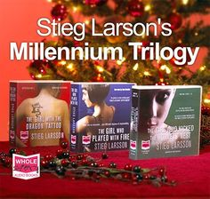 Stieg Larsson's Millennium trilogy is just fantastic! Really hard hitting in places, well worth the reading-through-fingers parts ; I Love Books, Books To Read, My Books, Stieg Larsson, Treasure Island, The Girl Who, Audio Books, Authors, My Love