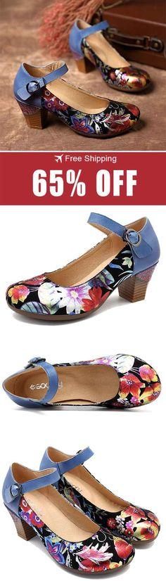Rose town Girls Single Shoe Fashion Flat Leather Shallow Shoes